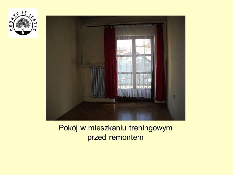 Pokój w mieszkaniu treningowym przed remontem