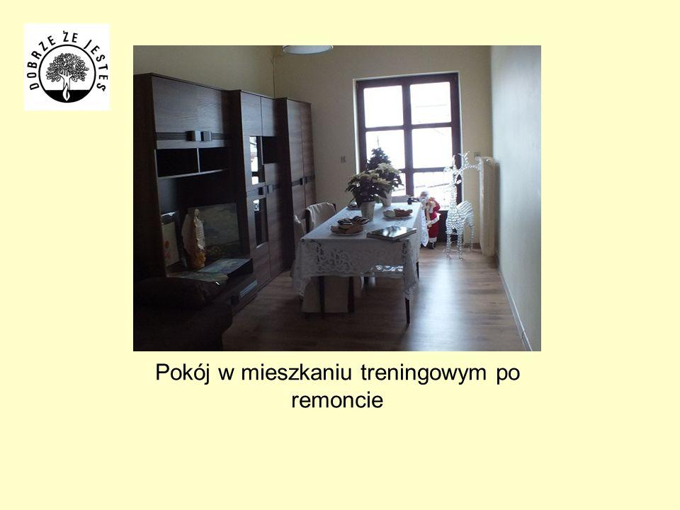 Pokój w mieszkaniu treningowym po remoncie