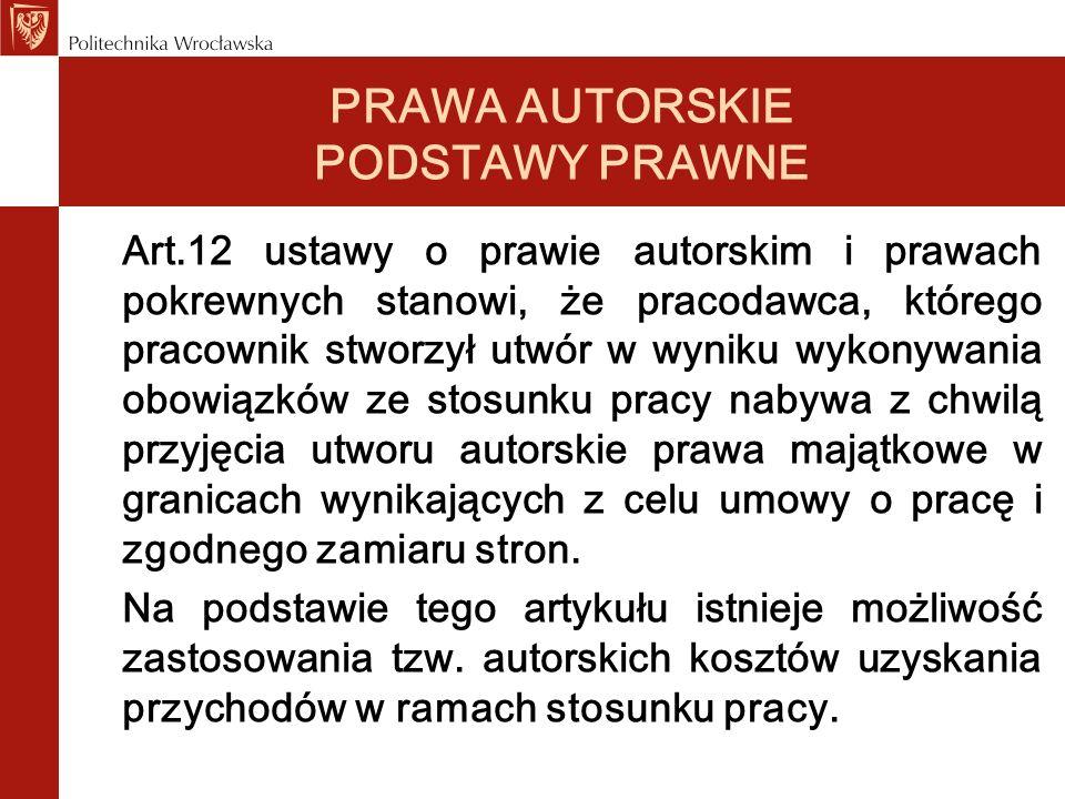 PRAWA AUTORSKIE PODSTAWY PRAWNE