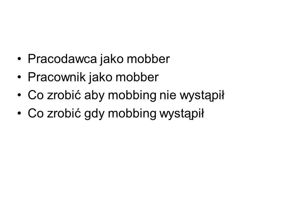 Pracodawca jako mobber