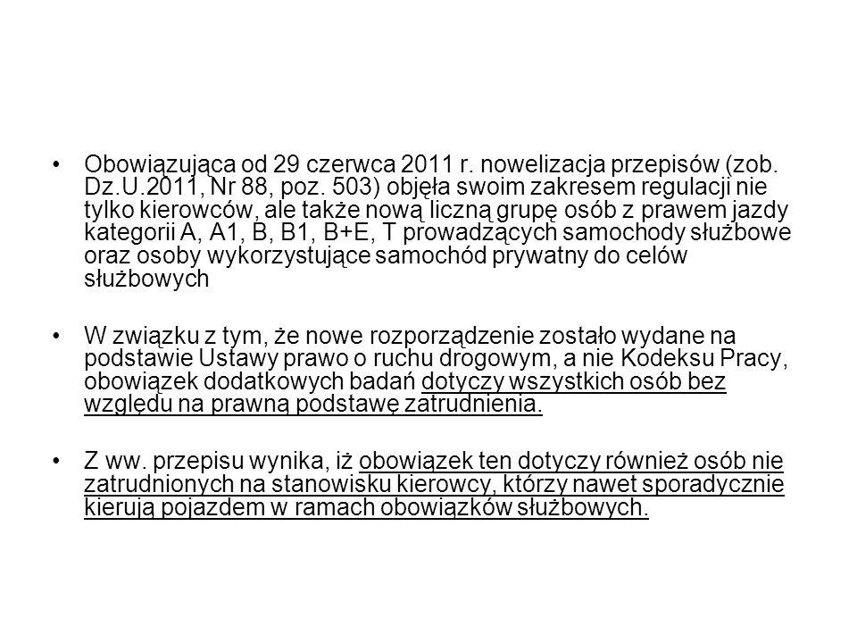 Obowiązująca od 29 czerwca 2011 r. nowelizacja przepisów (zob. Dz. U
