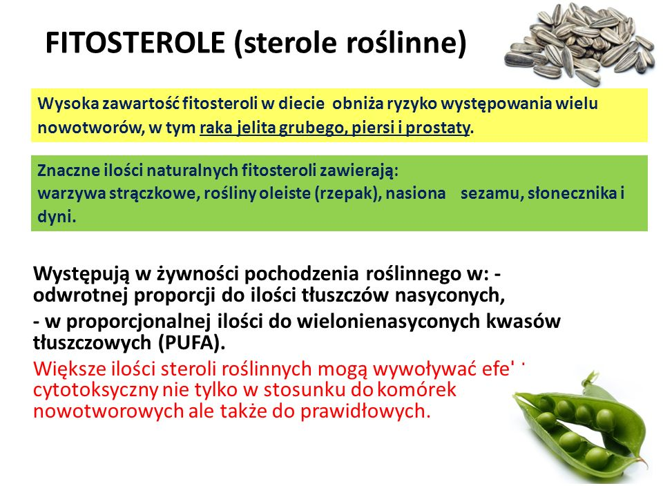 FITOSTEROLE (sterole roślinne)
