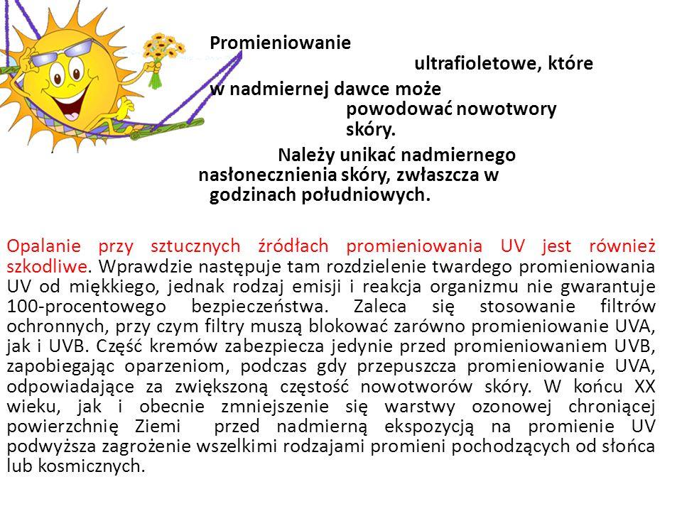 Promieniowanie ultrafioletowe, które