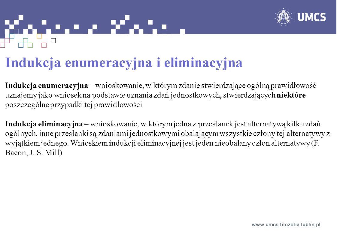 Indukcja enumeracyjna i eliminacyjna