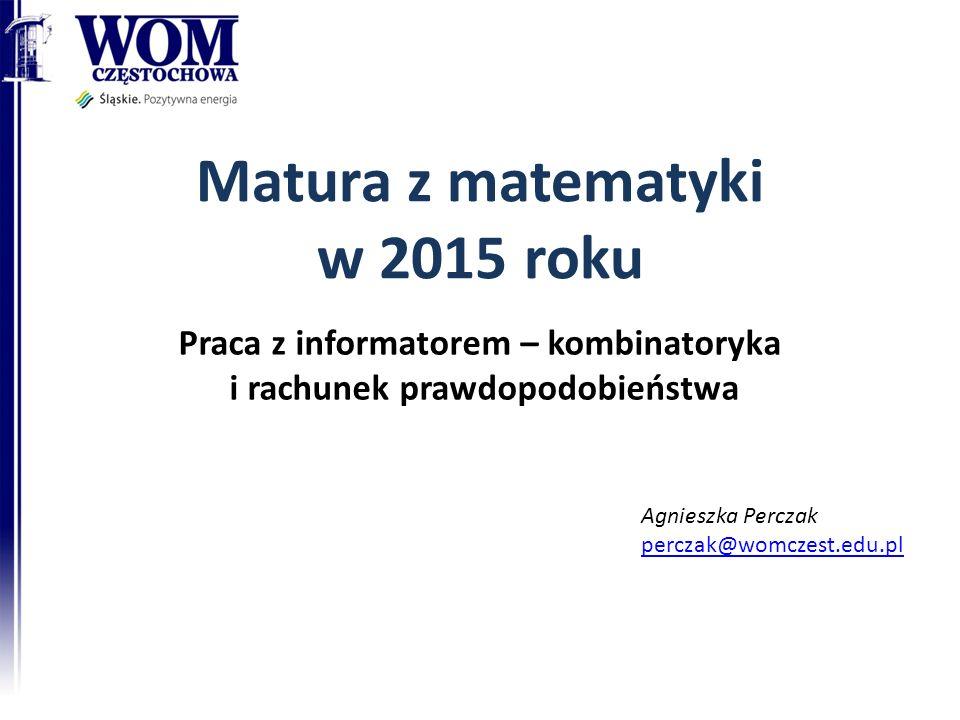 Matura z matematyki w 2015 roku