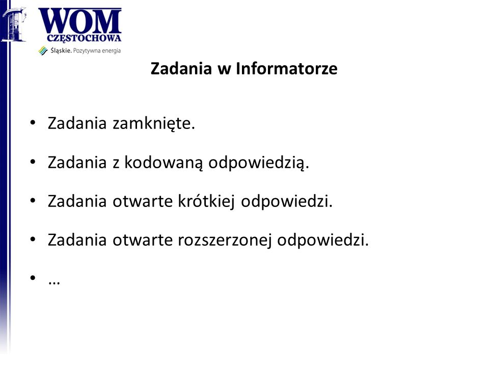 Zadania w Informatorze