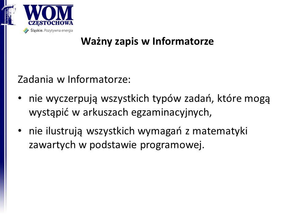 Ważny zapis w Informatorze