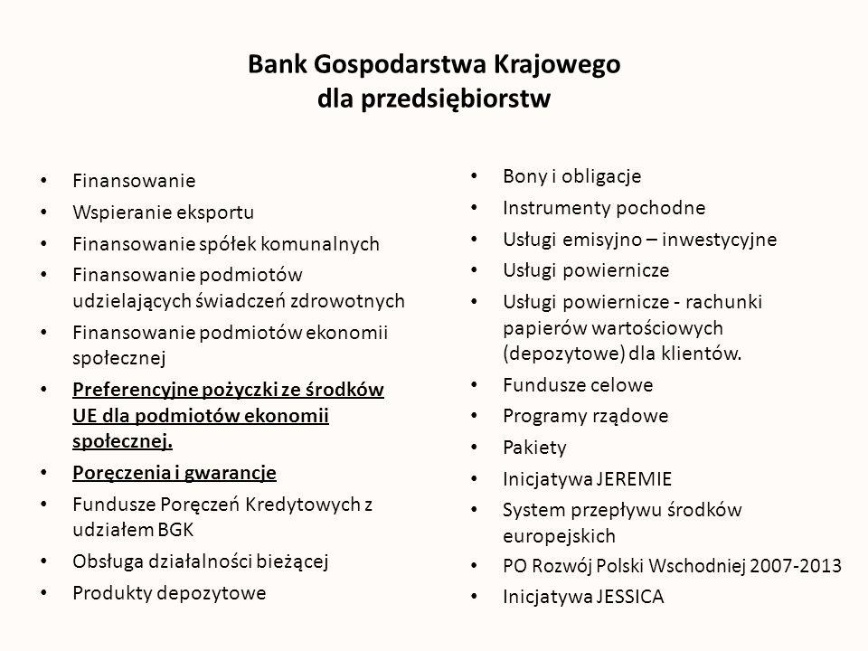 Bank Gospodarstwa Krajowego dla przedsiębiorstw