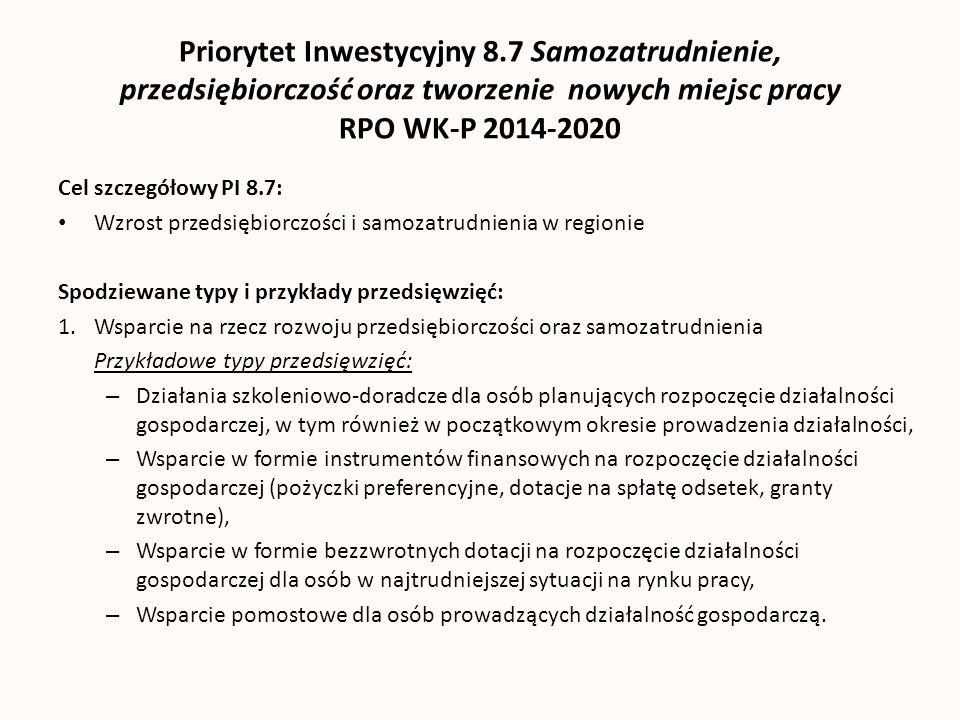 Priorytet Inwestycyjny 8