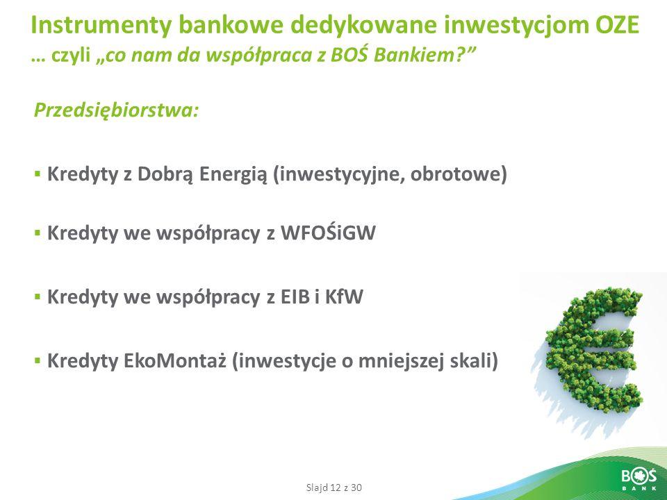 """Instrumenty bankowe dedykowane inwestycjom OZE … czyli """"co nam da współpraca z BOŚ Bankiem"""