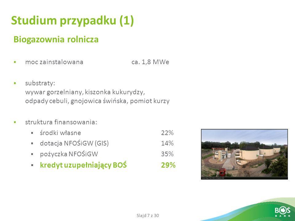 Studium przypadku (1) Biogazownia rolnicza