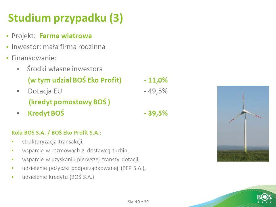 Studium przypadku (3) Projekt: Farma wiatrowa