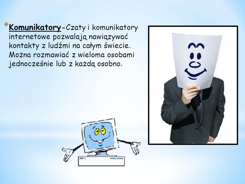 Komunikatory-Czaty i komunikatory internetowe pozwalają nawiązywać kontakty z ludźmi na całym świecie.