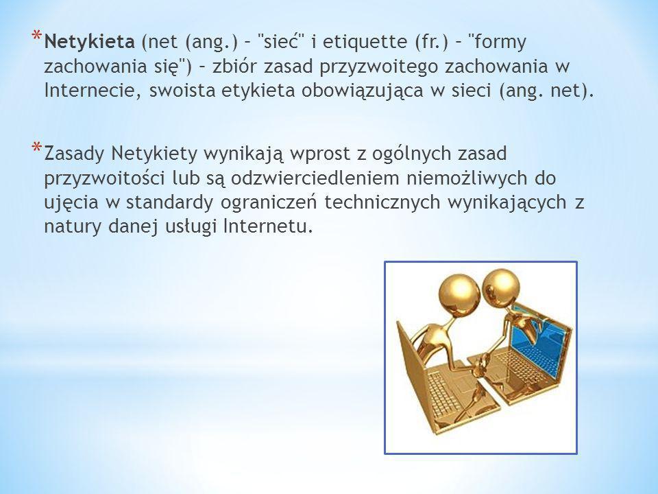Netykieta (net (ang. ) – sieć i etiquette (fr