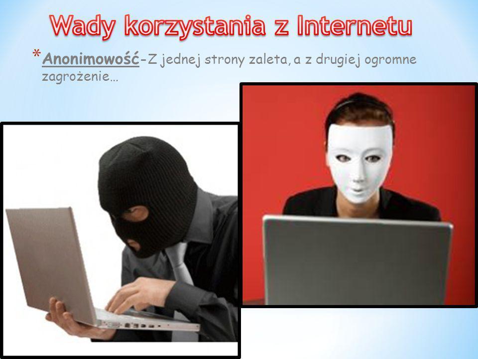 Wady korzystania z Internetu