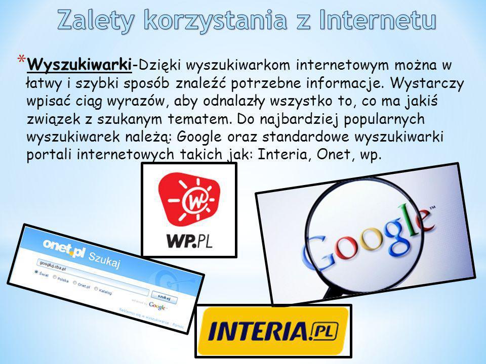 Zalety korzystania z Internetu