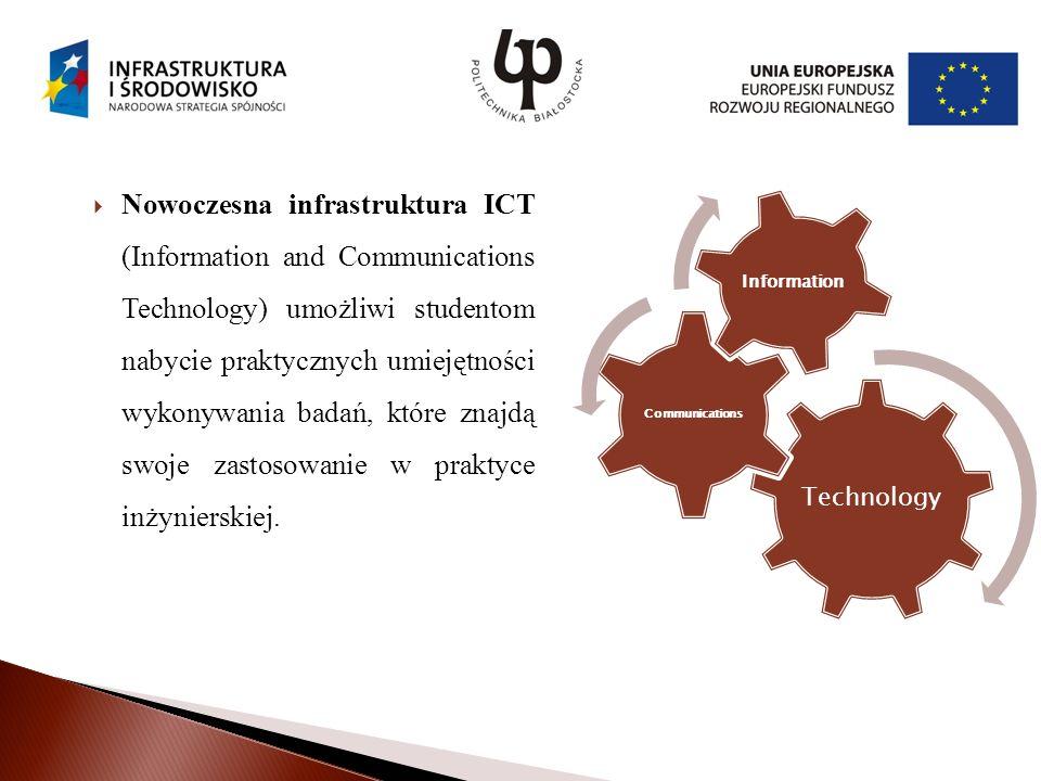 Nowoczesna infrastruktura ICT (Information and Communications Technology) umożliwi studentom nabycie praktycznych umiejętności wykonywania badań, które znajdą swoje zastosowanie w praktyce inżynierskiej.