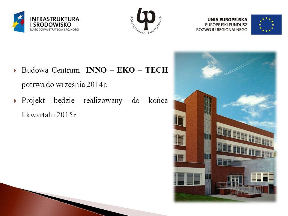 Budowa Centrum INNO – EKO – TECH potrwa do września 2014r.