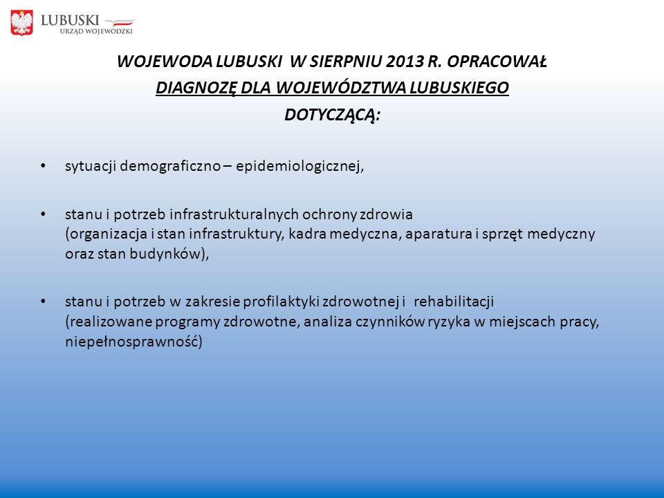 WOJEWODA LUBUSKI W SIERPNIU 2013 R. OPRACOWAŁ
