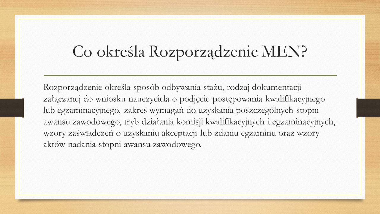 Co określa Rozporządzenie MEN