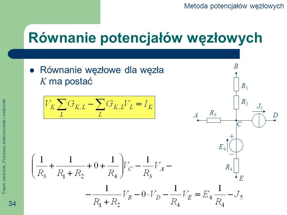 Równanie potencjałów węzłowych