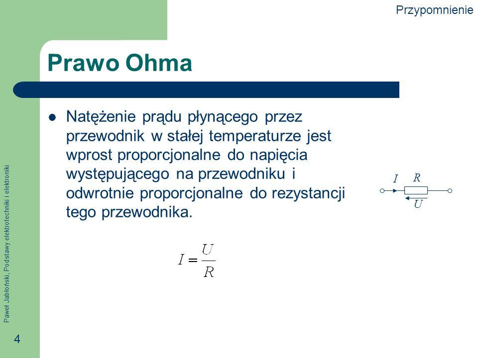 Przypomnienie Prawo Ohma.