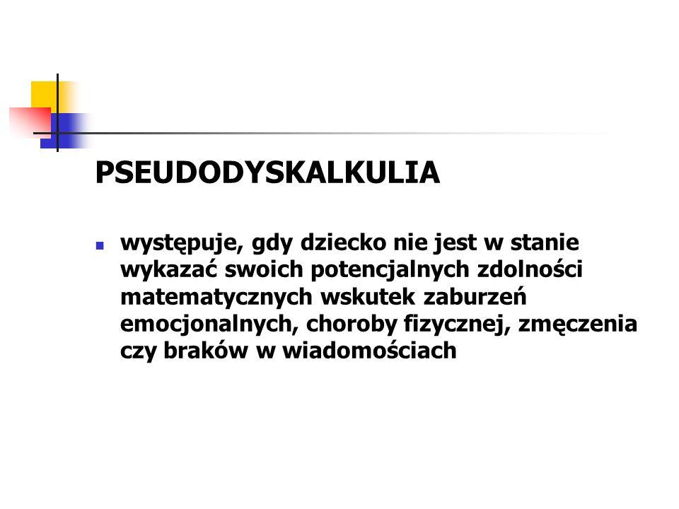PSEUDODYSKALKULIA