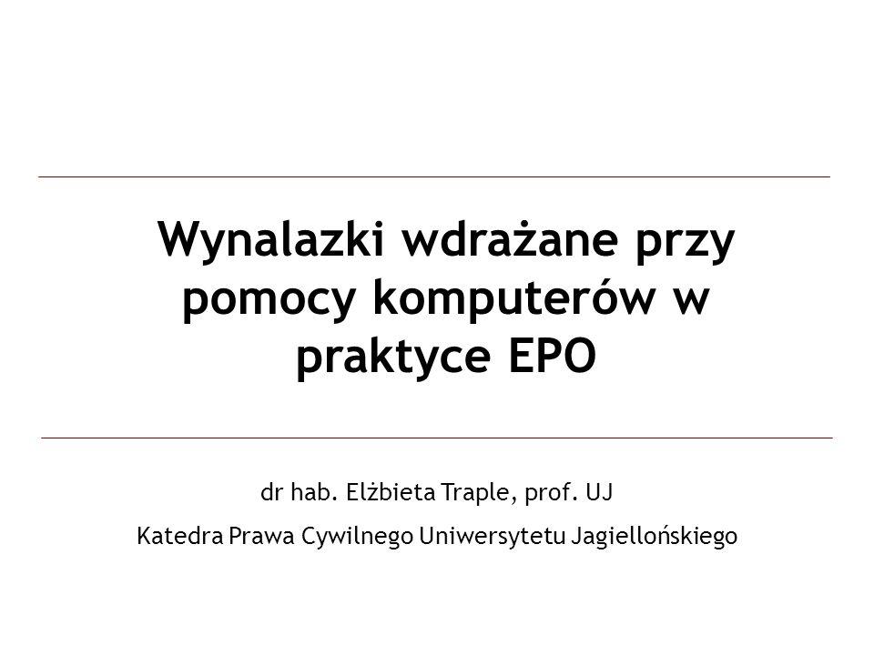 Wynalazki wdrażane przy pomocy komputerów w praktyce EPO