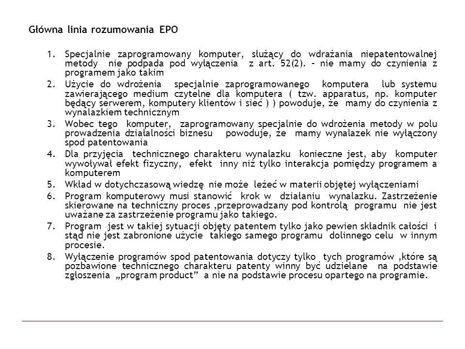 Główna linia rozumowania EPO