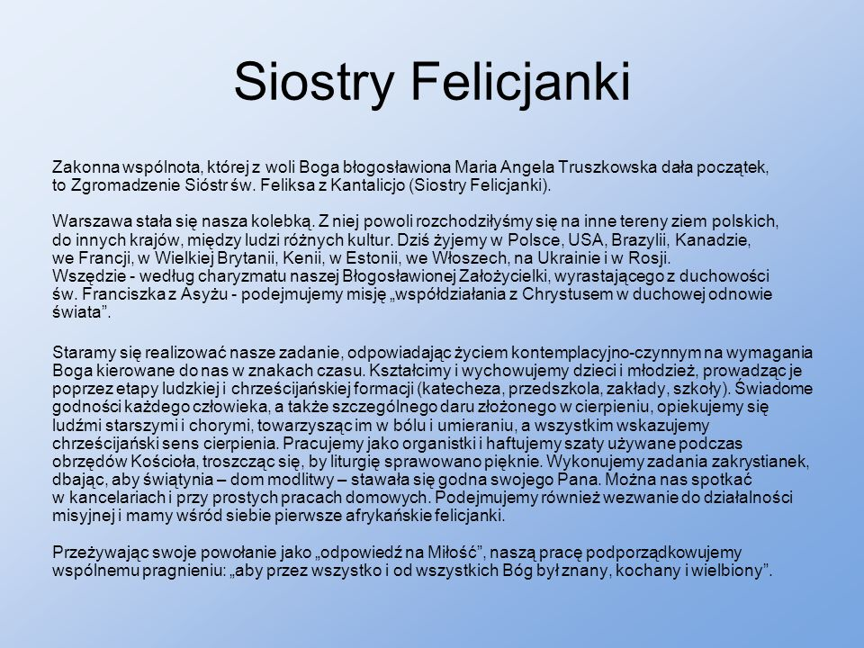 Siostry Felicjanki
