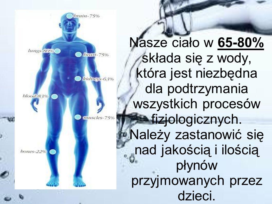 Nasze ciało w 65-80% składa się z wody, która jest niezbędna dla podtrzymania wszystkich procesów fizjologicznych.