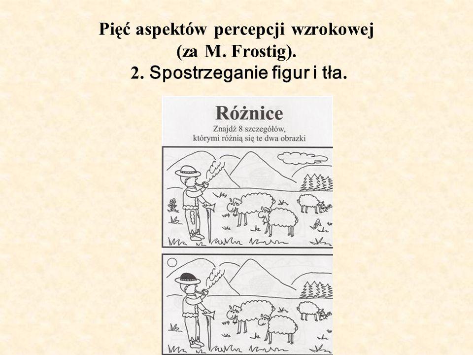 Pięć aspektów percepcji wzrokowej (za M. Frostig). 2