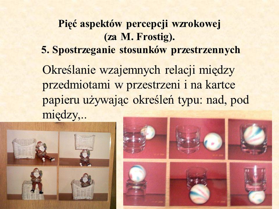 Pięć aspektów percepcji wzrokowej (za M. Frostig). 5
