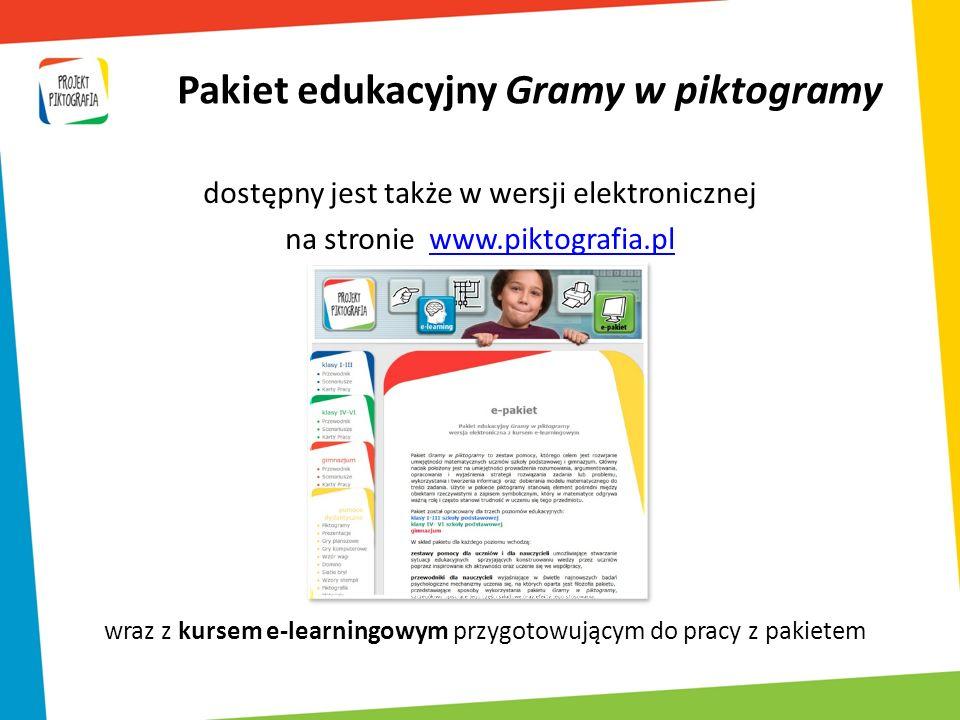 Pakiet edukacyjny Gramy w piktogramy