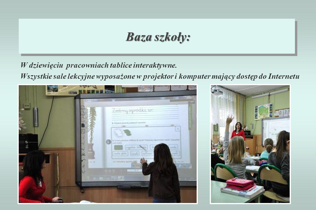 Baza szkoły: W dziewięciu pracowniach tablice interaktywne.
