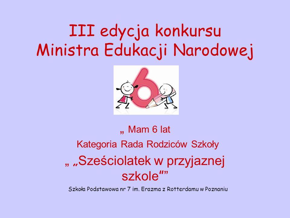 III edycja konkursu Ministra Edukacji Narodowej