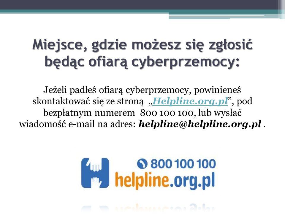 Miejsce, gdzie możesz się zgłosić będąc ofiarą cyberprzemocy: