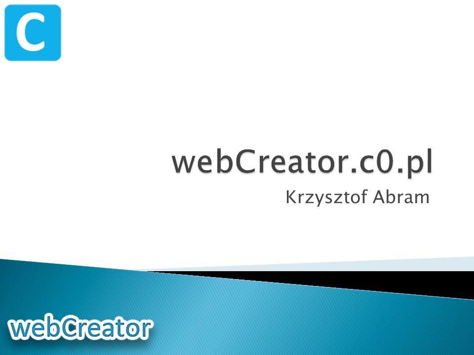 webCreator.c0.pl Krzysztof Abram