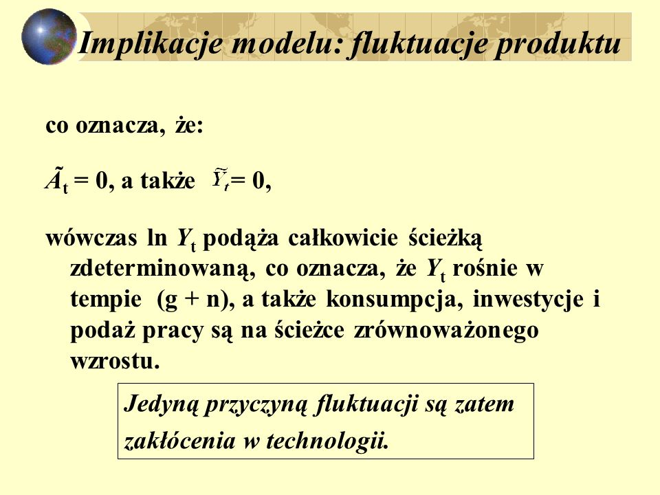 Implikacje modelu: fluktuacje produktu
