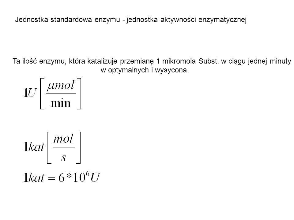 Jednostka standardowa enzymu - jednostka aktywności enzymatycznej