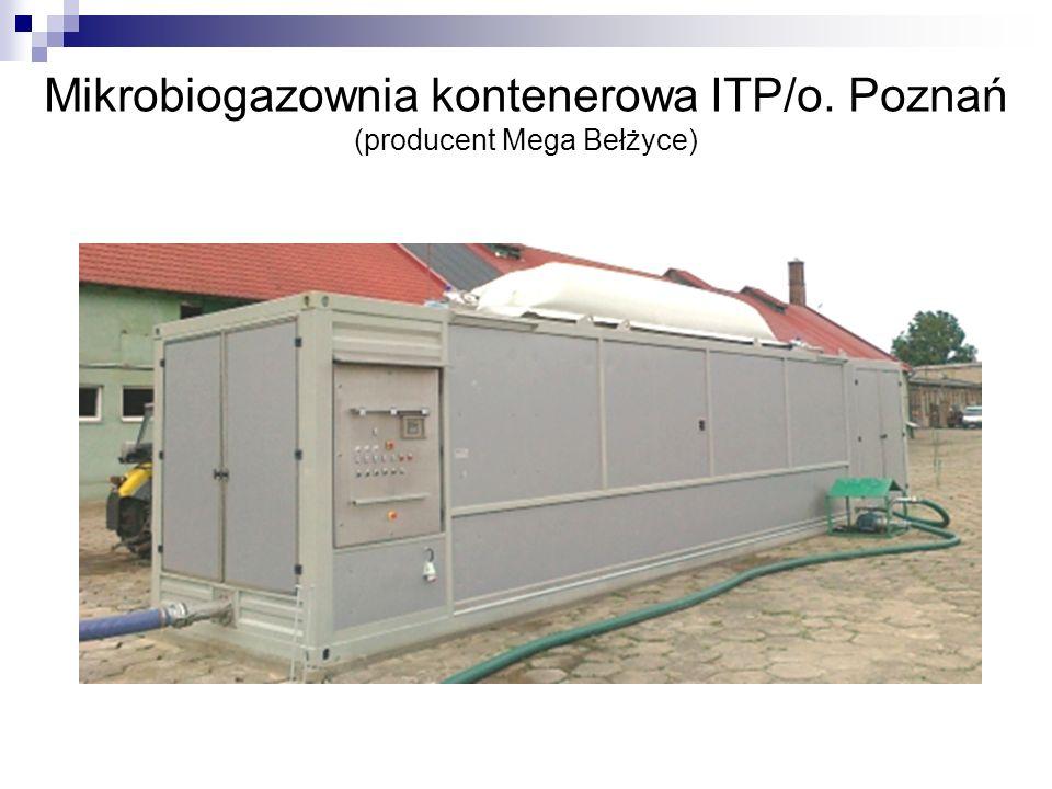 Mikrobiogazownia kontenerowa ITP/o. Poznań