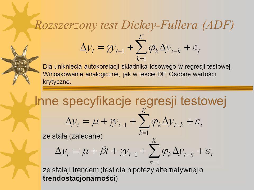 Rozszerzony test Dickey-Fullera (ADF)