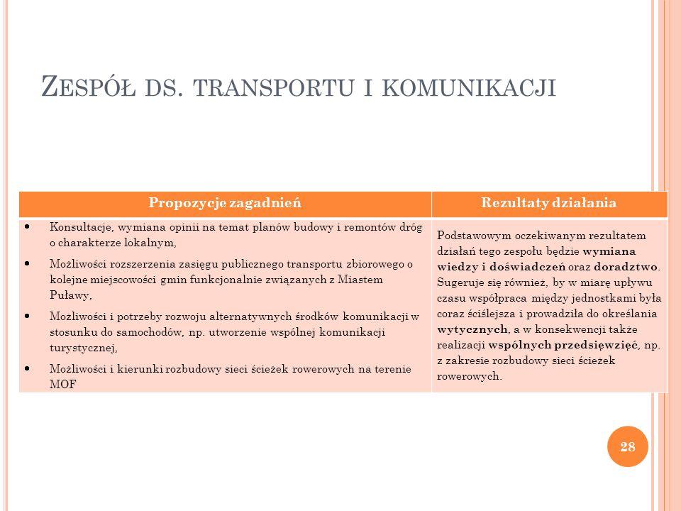 Zespół ds. transportu i komunikacji