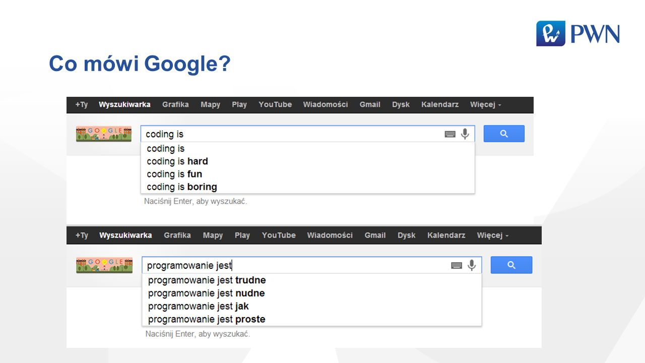 Co mówi Google