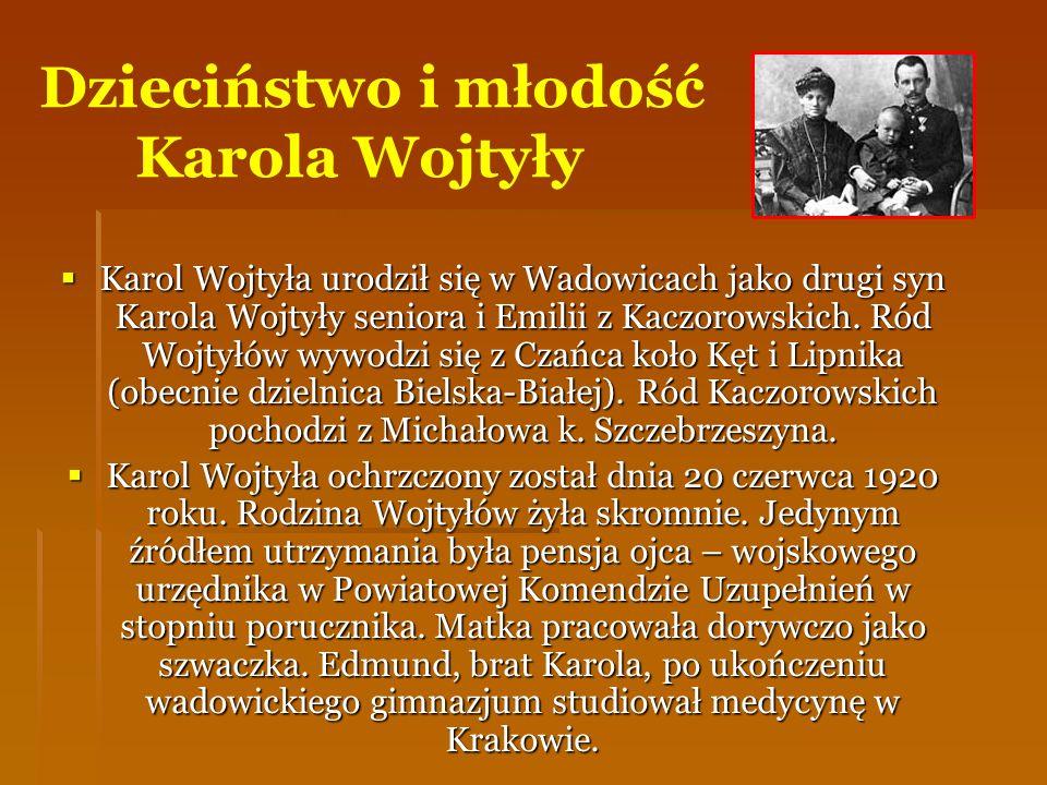 Dzieciństwo i młodość Karola Wojtyły