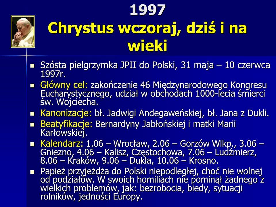 1997 Chrystus wczoraj, dziś i na wieki
