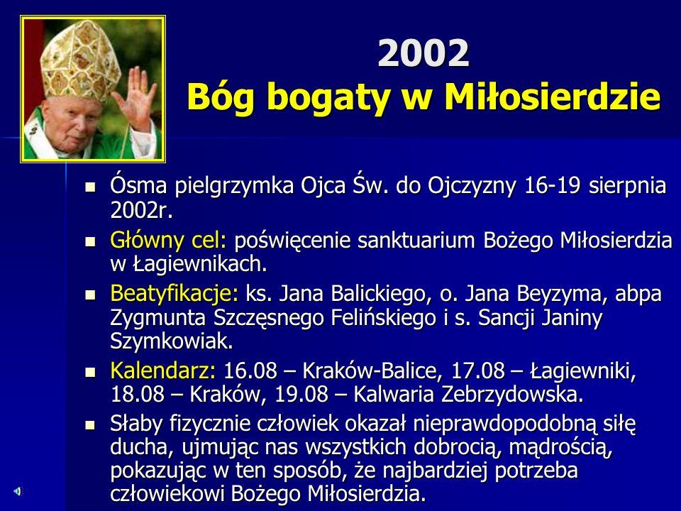 2002 Bóg bogaty w Miłosierdzie
