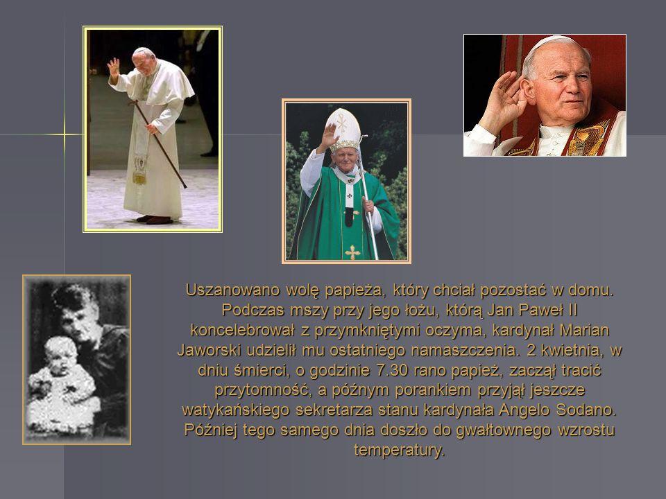 Uszanowano wolę papieża, który chciał pozostać w domu