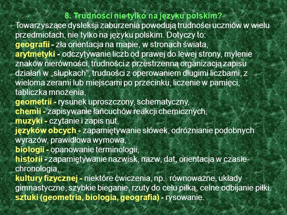 8. Trudności nie tylko na języku polskim
