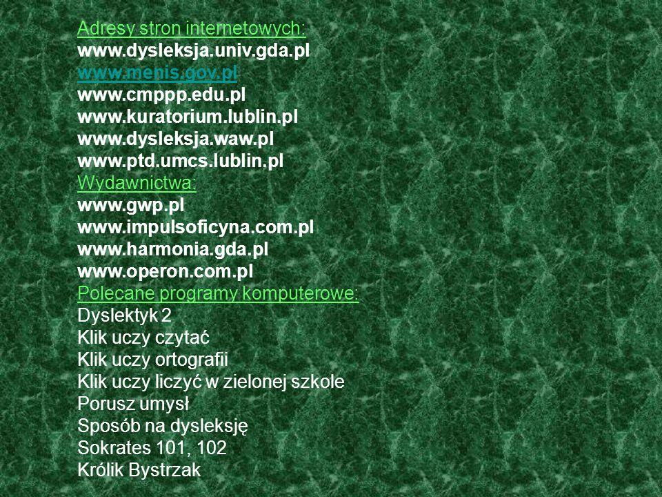 Adresy stron internetowych: